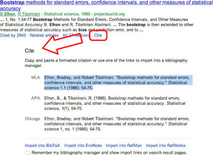 Cite from search results - Google Scholar Blog | Medical Librarians Of the World (MeLOW) | Scoop.it