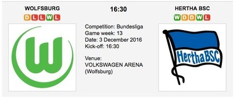 Wolfsburg vs. Hertha BSC: Bundesliga Preview 2016 | Free betting tips on football,tennis,hockey & more | Scoop.it