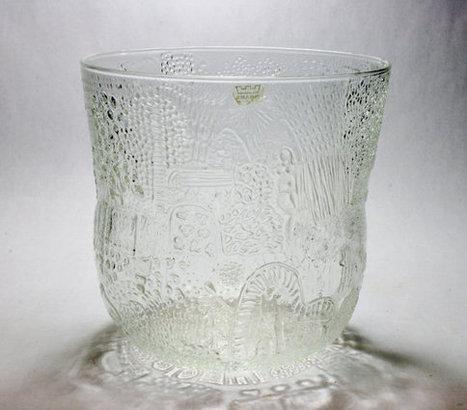 Nuutajärvi / Arabia Of Finland Oiva Toikka Fauna Bowl - Danish Modern Art Glass Kaj Franck Era Design Mid Century Dinnerware Ice Bucket   S U B L I M E * D E S I G N   Scoop.it