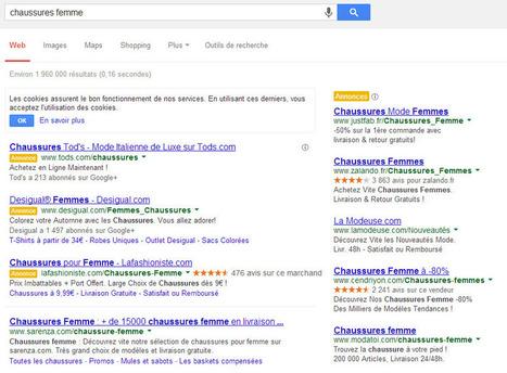 Suppression du fond jaune des résultats de recherche payants issus de Google AdWords | Référencement naturel et payant | Scoop.it