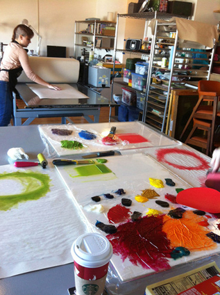 "Studio Visit: Laura Berman « PRINTERESTING | ""Life Without Art Is Stupid"" 