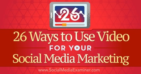 26 Ways to Use Video for your Social Media Marketing | Design, social media and web resources | Scoop.it