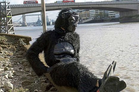 Protesting policeman in gorilla suit is banned from swimming in the Thames | Policing news | Scoop.it