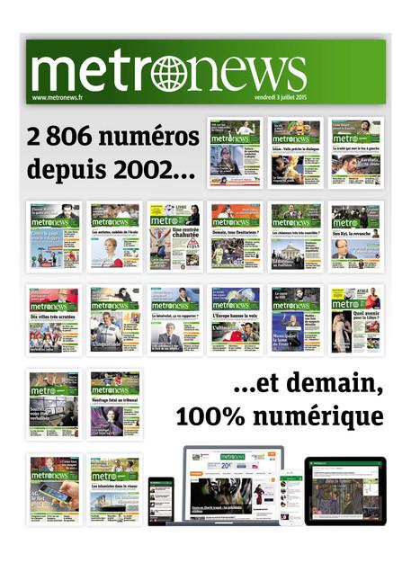 Dernier jour pour «Metronews» version papier | DocPresseESJ | Scoop.it