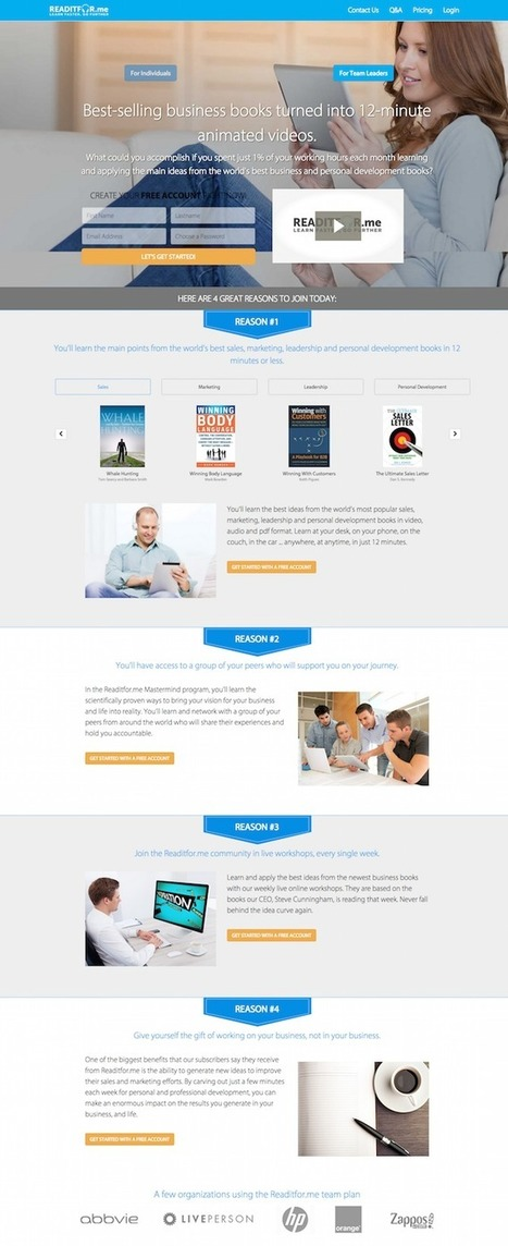 11 Great Landing Page Examples You'll Want to Copy | digital marketing strategy | Scoop.it