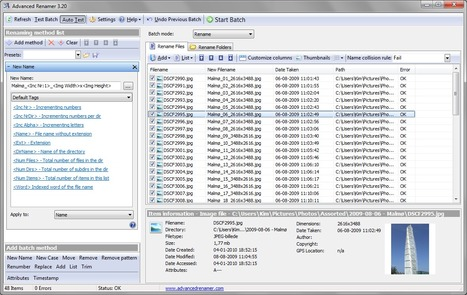 Advanced Renamer - Free and fast batch rename utility | Time to Learn | Scoop.it