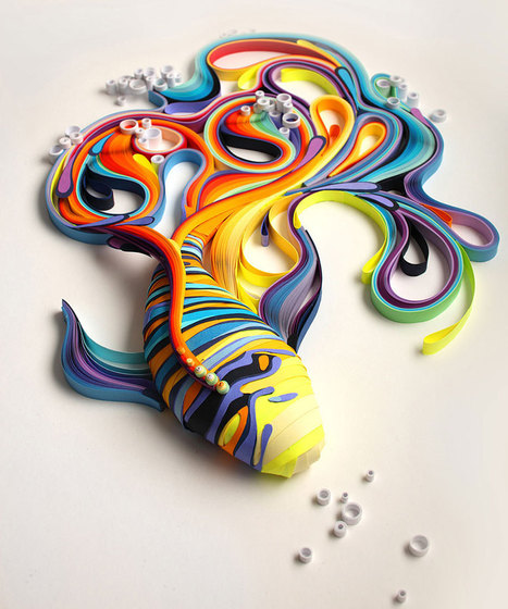 More Colorful Illustrations Out Of Colored Paper | Designer's Resources | Scoop.it
