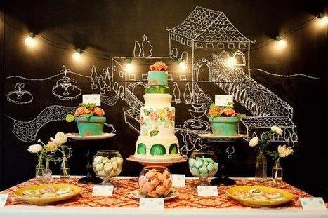 vintage style rustic vineyard orange fall multi shape cupcakes green round   CLASSIC MULTISHAPE WEDDING CAKES   Scoop.it