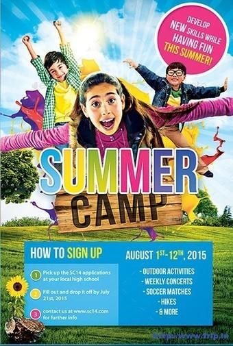 25+ Best Kids Summer Camp Flyer Print Templates 2015   Frip.in   Print Templates   Scoop.it
