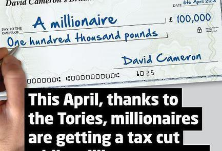 """Labour steps up its 50p tax attack with new """"Tory Millionaire's Day"""" campaign   Politics1   Scoop.it"""