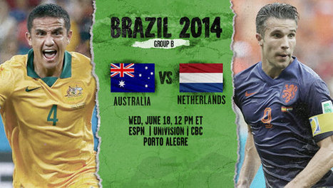 Australia vs. Netherlands: 2014 FIFA World Cup | Group B Preview - Major League Soccer | FIFA World Cup Brazil 2014 | Scoop.it