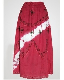 Pink Tie Dye Cotton Skirt | EdayGarments- Buy Dresses, skirts, tops, Tunics | Scoop.it