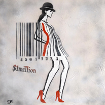 Barcode lady Graffiti art, Stencil art by Ge Feng | Flickr - Photo Sharing! | artcode | Scoop.it
