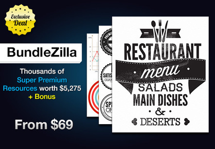 BundleZilla: Thousands of Super Premium Resources worth $5,275 – From $69 | Design Resources | Scoop.it