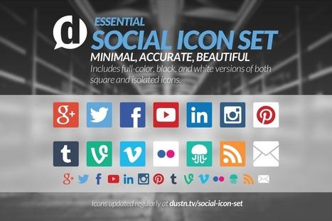 Social Icon Set Update [Feb. 2014] - dustn.tv | paperless | Scoop.it