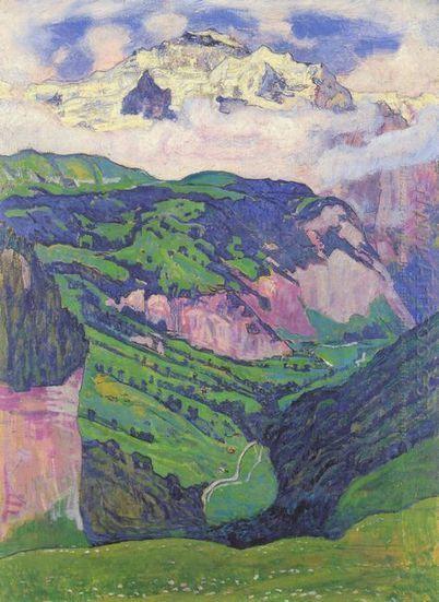 La señora de la Isenfluh 1902 - Pintura al óleo | Landscapes oil paintings | Scoop.it
