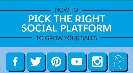 [Infographie] Comment choisir les réseaux sociaux pour accroître ses ventes ? - Content Marketing | Internet world | Scoop.it