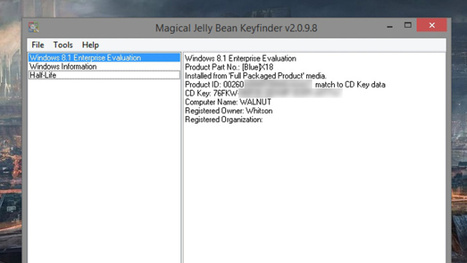 Magical Jelly Bean KeyFinder Finds Product Keys for All Your Programs | Le Top des Applications Web et Logiciels Gratuits | Scoop.it
