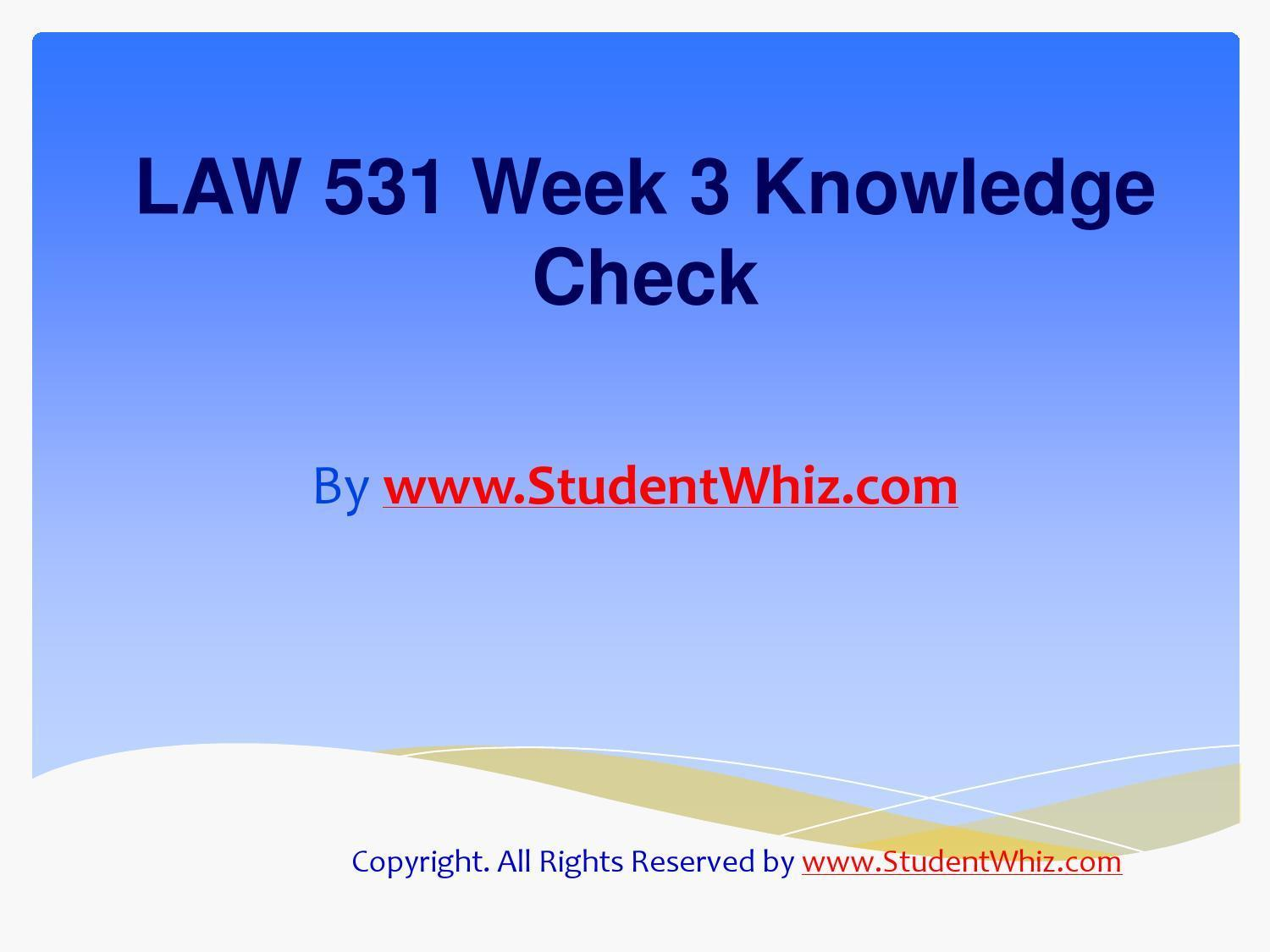 final exam questions law 531