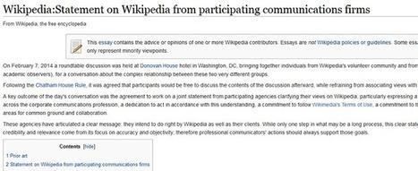 Onze agences de relations presse promettent de jouer-franc jeu avec Wikipedia   RELATION PUBLICS - PRESSE   Scoop.it