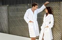 White Lightweight Bathrobe - Cotton - Adult Unisex Trendy Peshtemal Bathrobes Cotton and Olive   Turkish Peshtemal Towels   Scoop.it