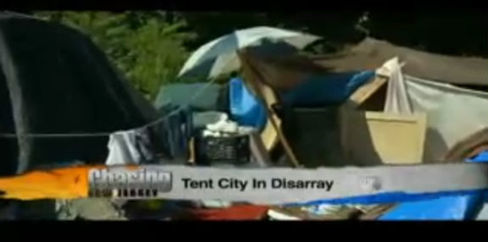 10,000s living in Tent Cities Springing Up in New Jersey to House the Poor
