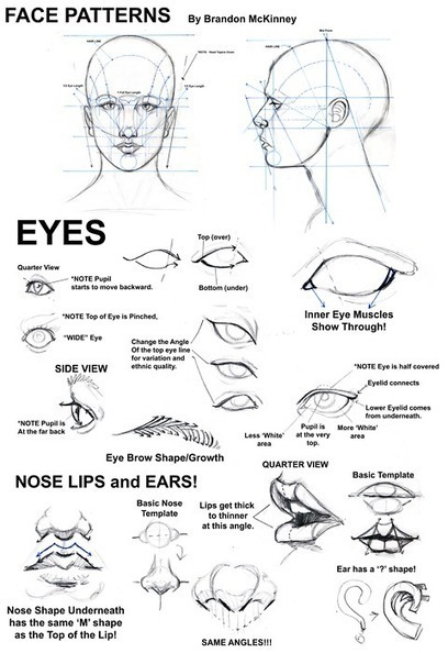 Face Patterns Drawing Reference | Drawing References and Resources | Scoop.it