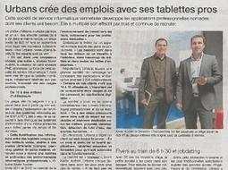 L'entreprise URBANS à la Une du journal Ouest-France | Urbans Facility | Scoop.it