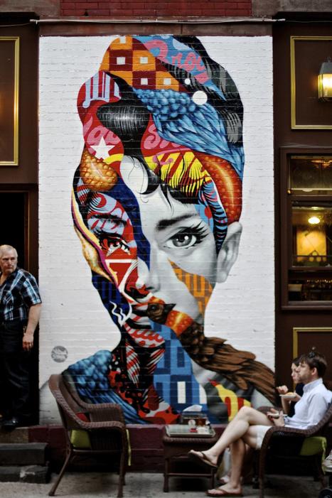 Audrey Hepburn By Tristan Eaton, Mulberry Street, NY #streetart | Street-art Design Grafititi et Gros minet | Scoop.it