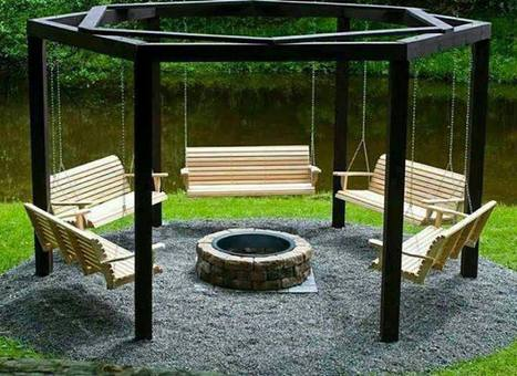 Clever back yard fire area | Landscape Creative Inspiration | Scoop.it