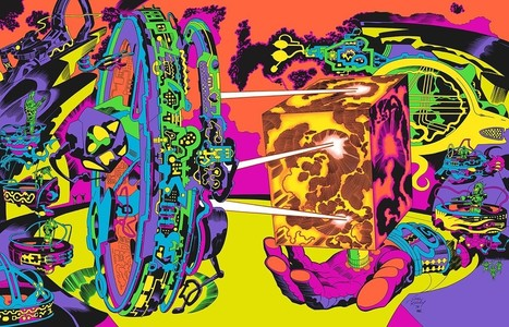 "70s Sci-Fi Art: A planetary control room from Jack Kirby | Jack ""King"" Kirby 