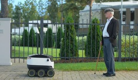 Une start-up lance son service de livraison par robots téléguidés | Vous avez dit Innovation ? | Scoop.it