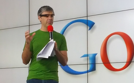 Project Glass Augmented-Reality Specs Spotted on Larry Page's Face | FutureChronicles | Scoop.it