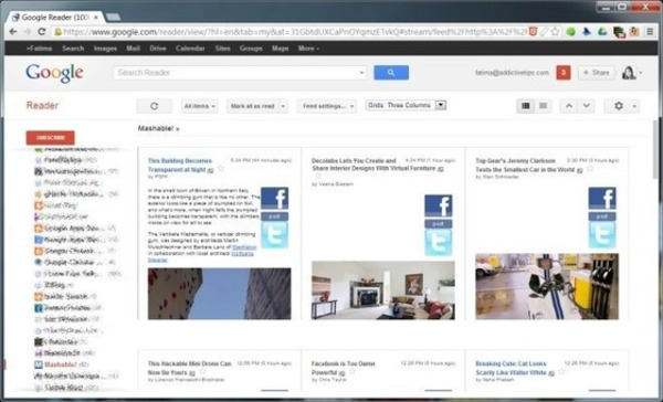 Preview Google Reader RSS Feed Items In A Grid Layout In Chrome | Curation, Veille et Outils | Scoop.it