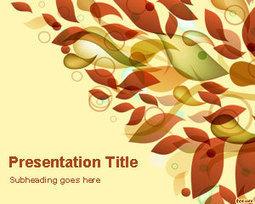 Autumn Leaves PowerPoint Template   Free Powerpoint Templates   autumn   Scoop.it