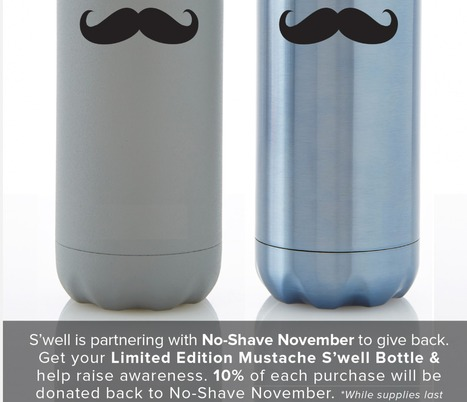 S'well Bottle Supports MOvember NO Shaving! | Eco Action Heroes | Scoop.it