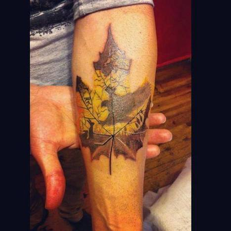 Leaf | Tattoo | Scoop.it