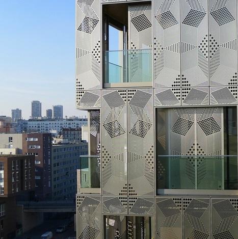 Une façade en MÉTAL pour un immeuble quartier Masséna à Paris | The Architecture of the City | Scoop.it