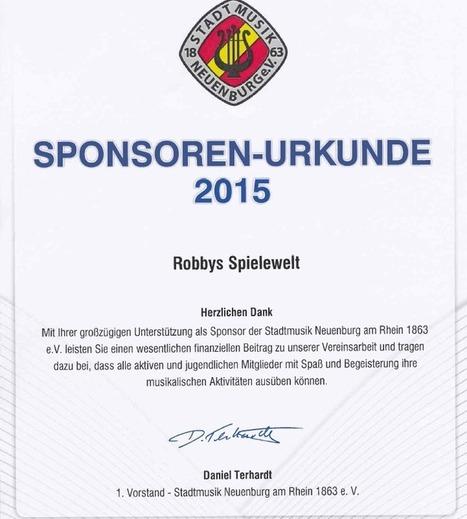 Robbys Spielewelt Sponsoren-Uhrkunde 2015 | Mennetic Design | Scoop.it