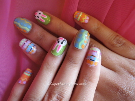 Easter Nail Tutorial – Eggs and the Easter Bunny - Super Beauty Guru | The Super Beauty Guru | Scoop.it