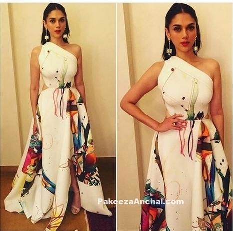 Aditi Rao Hydari in White One Shoulder Gown by Gauri and Nainika | Indian Fashion Updates | Scoop.it