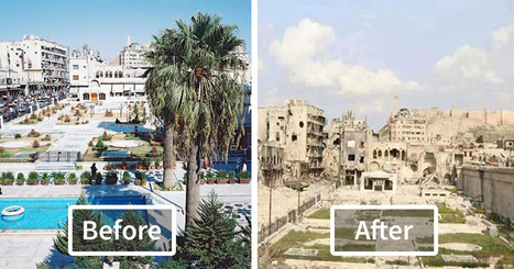 10+ Before-And-After Pics Reveal What War Did To The Largest City In Syria | Lorraine's Place and Liveability | Scoop.it