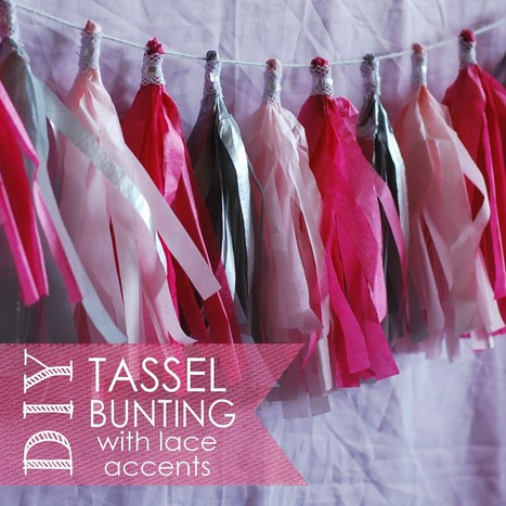 DIY Tassel Bunting with Lace Accents | DIY - Parties, Decor, & Crafts | Scoop.it