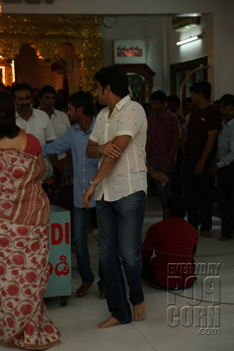 Nagarjuna Family Photos at Sai Baba Temple   Telugu cinema News   Scoop.it