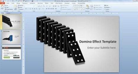 Free Domino Effect PowerPoint Template - Free PowerPoint Templates - SlideHunter.com | domino | Scoop.it