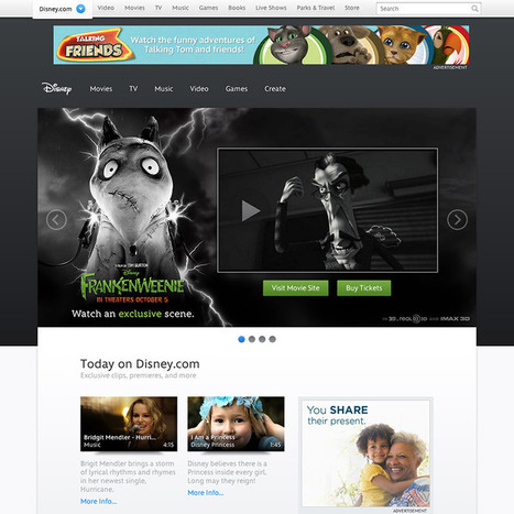 The design thinking behind the new Disney.com | The Fox Is Black | Designing  service | Scoop.it