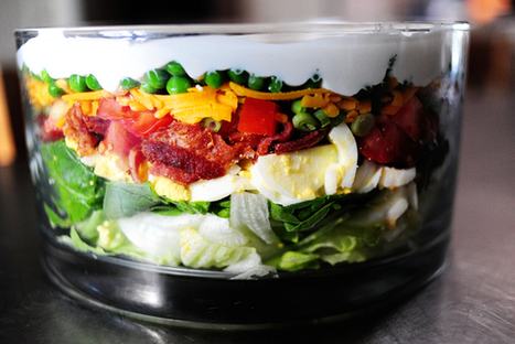 Layered salad step by step recipe   Formidable ideas   Scoop.it