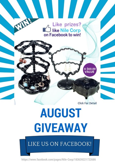 August Giveaway: Win Elegant Jewelry Display Set | Fashion and Jewelry | Scoop.it