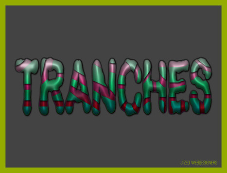 Effet de texte en tranches | | Photoshop Design | Scoop.it