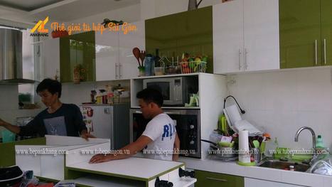 Tủ bếp acrylic chị LINH - Nhà Bè DATB10. | Tủ bếp, Bếp An Khang tạo dấu ấn cho ngôi nhà VIỆT 0839798355 | Scoop.it